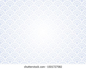 Chinese new year. Vector white abstract design. Japanese traditional background with waves