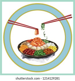 Chinese New Year Yee Sang chopstick with white background food