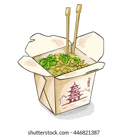 chinese noodles box color picture