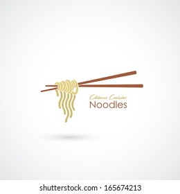 Chinese noodles - vector illustration