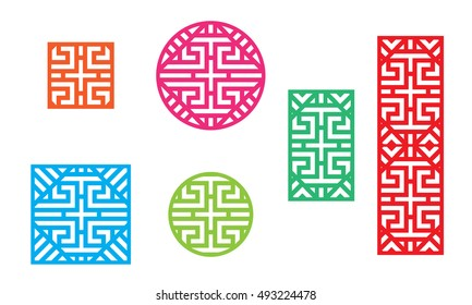 Chinese pattern frame for window and fence