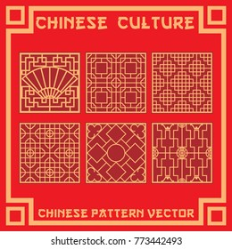 chinese pattern in vector