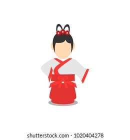 Chinese people character vector