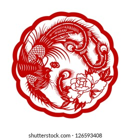 Chinese phoenix ( symbol of good luck )