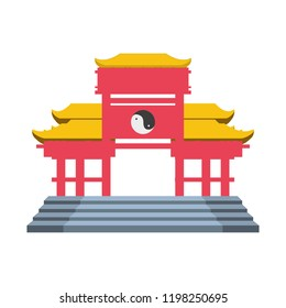 chinese portal isolated icon