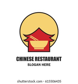 chinese restaurant / chinese food logo with text space for your slogan / tagline, vector illustration