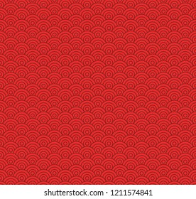 Chinese seamless pattern, red tones