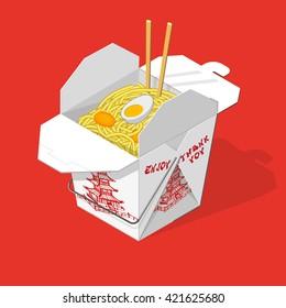 Chinese takeout food box Chinese fastfood