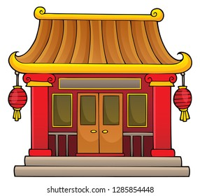 Chinese temple theme image 1 - eps10 vector illustration.