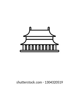 Chinese, Tiananmen icon. Simple thin line, outline vector of China icons for UI and UX, website or mobile application
