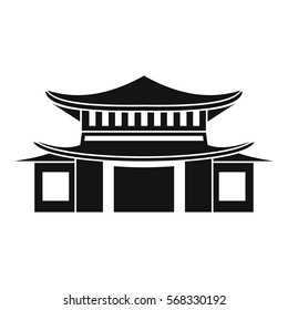 Chinese traditional building. icon. Simple illustration of chinese vector icon for web