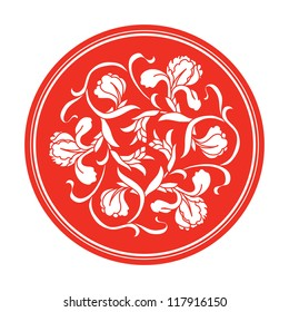 Chinese traditional floral ornament