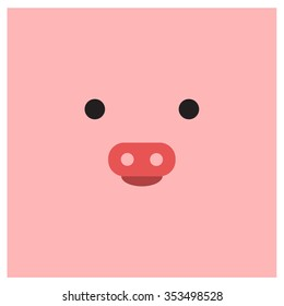 Chinese zodiac pig face
