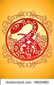 Chinese Zodiac - Snake Design