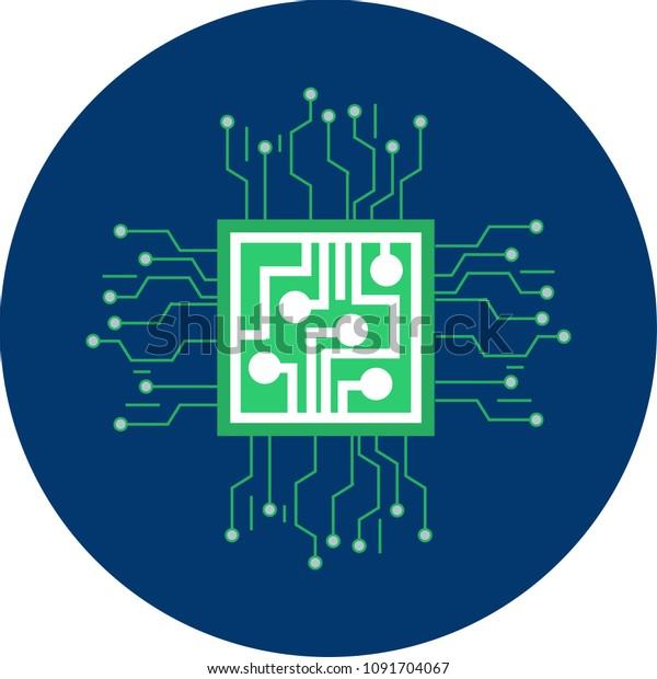 Chip Flat Icon