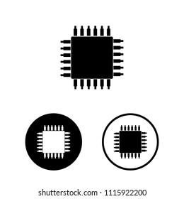 Chip icon set.Vector illustration