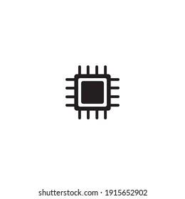 chip processor vector icon illustration design