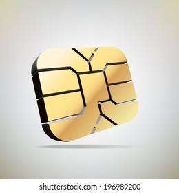 chip of sim card, Vector graphic