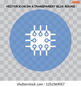 Chip vector icon for web design in a flat style