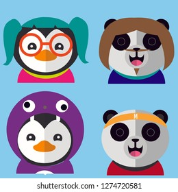Chipmunk Monkey Pinguin