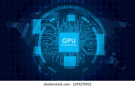 Chipset technology concept vector