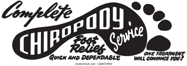 Chiropody Service  - Retro Ad Art Banner