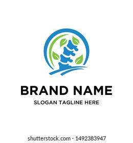 Chiropractic Leaf Creative Logo Design