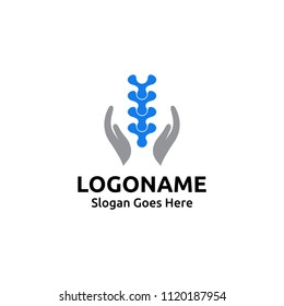 Chiropractic logo design. Spine logo template. Spinal Symbol