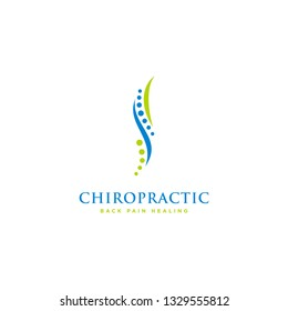 Chiropractic logo design. Spine logo template. Spinal icon. Backbone icon. Physio therapy logo