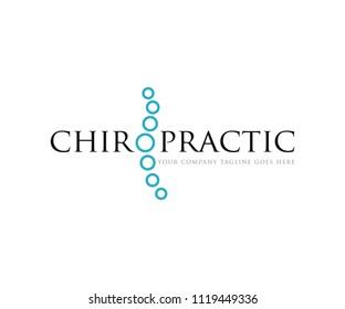 Chiropractic Logo Design Template Vector