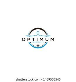 chiropractic logo design vector template