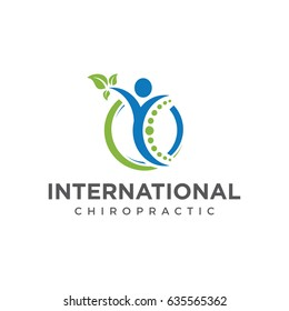 chiropractic logo icon vector template
