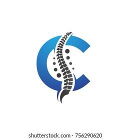 Chiropractic logo, letter c