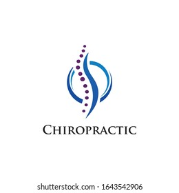 Chiropractic Logo Simple and Templates Vector