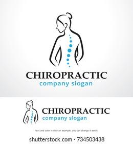 Chiropractic Logo Template Design Vector, Emblem, Design Concept, Creative Symbol, Icon