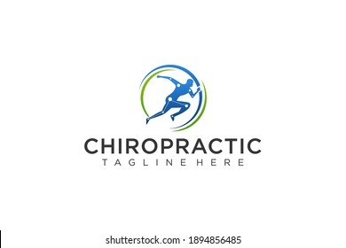 Chiropractic Logo Template Simple Design