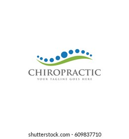 chiropractic spine dot logo icon vector template