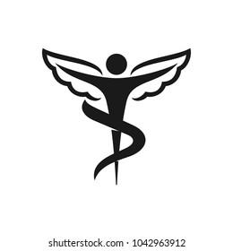Chiropractic vector logo. Eps08.