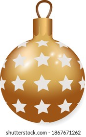 Chirstmas gold decor toy ball