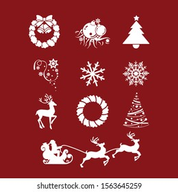 chirstmas object for pattern template vector