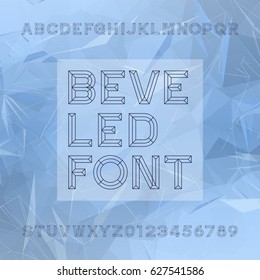 Chisel Alphabet Vector Font. Type letters and numbers. Chiseled block typeface for your design.