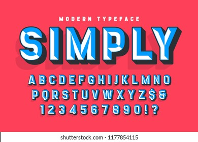 Chisel crafted display font with facets, alphabet, letters and numbers. Swatch color control