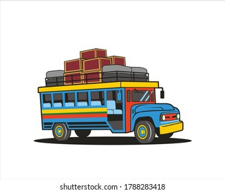 Chiva is a bus or public transportation in Colombia.