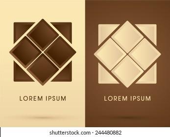 Chocolate, abstract logo, symbol, icon, graphic, vector.