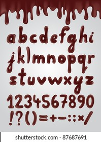 Chocolate Alphabet With Numbers
