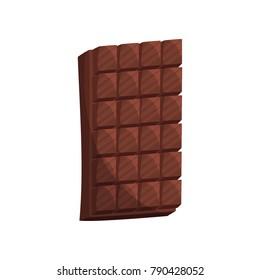 Chocolate bar cartoon vector Illustration