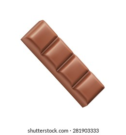 Chocolate bar four pieces vector