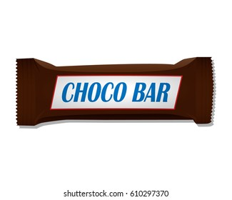 Chocolate bar. Packing. Template.