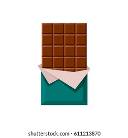 chocolate bar vector illustration