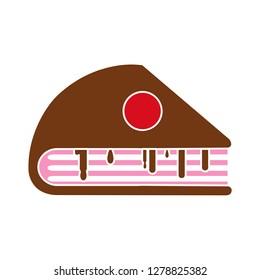 chocolate cake dessert icon-anniversary isolated-cupcakes symbol-celebration Illustration-cherry graphic-yummy Sign-dessert symbol-strawberry Isolated-sweet Icon